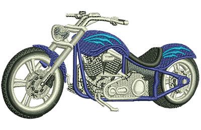 Embroidery Design: Blue Chopper Med 3.52w X 1.91h