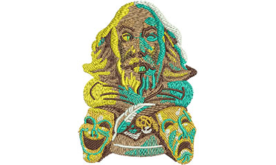 Embroidery Design: Shakespeare Theater Lg 2.85w X 3.99h