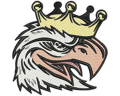 Embroidery Design: Eagle King Mylar 5.01w X 4.97h