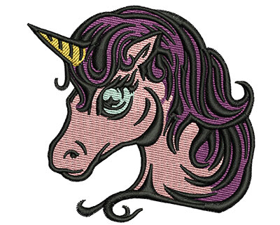 Embroidery Design: Magical Unicorn 3.01w X 2.87h