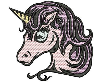 Embroidery Design: Magical Unicorn Mylar 5.01w X 4.77h
