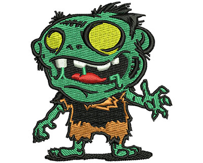 Embroidery Design: Zombie Cartoon 2.69w X 3.04h
