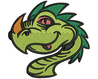 Embroidery Design: Dragon Head 3.01w X 2.84h
