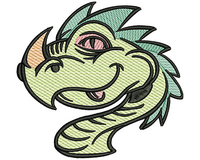 Embroidery Design: Dragon Head Mylar 5.02w X 4.74h