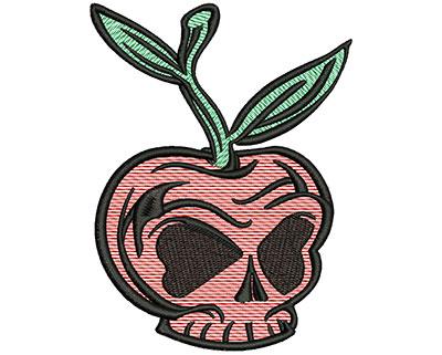 Embroidery Design: Cherry Skull Mylar3.78w x 5.02h