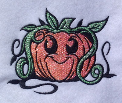 Embroidery Design: Smiley Pumpkin Mylar 5.03w X 3.96h