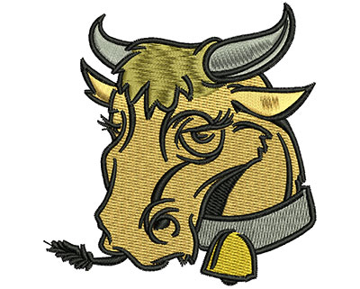 Embroidery Design: Miss Cow 2.90w X 3.01h