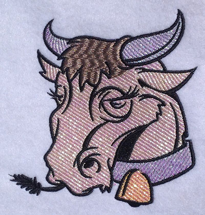 Embroidery Design: Miss Cow Applique 4.86w X 5.05h