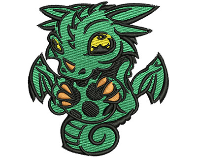 Embroidery Design: Cartoon Dragon 2.73w X 3.01h