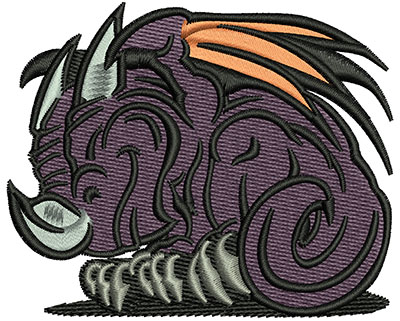 Embroidery Design: Monster Cartoon 3.01w X 2.45h