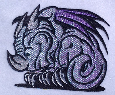 Embroidery Design: Monster Cartoon Mylar 5.05w X 4.12h