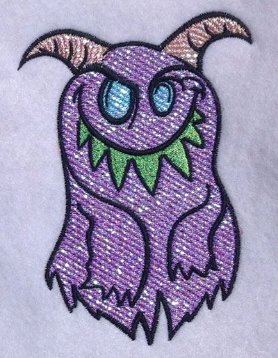Embroidery Design: Silly Monster Mylar 3.58w X 5.05h