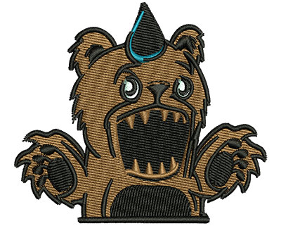 Embroidery Design: Monster Teddy Bear 3.01w X 2.63h