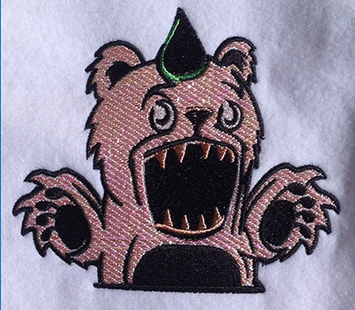 Embroidery Design: Monster Teddy Bear Mylar 5.05w X 4.43h