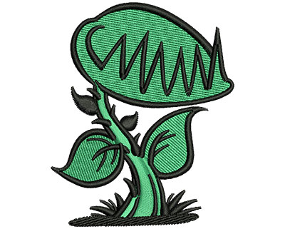 Embroidery Design: Plant Monster 2.46w X 3.01h