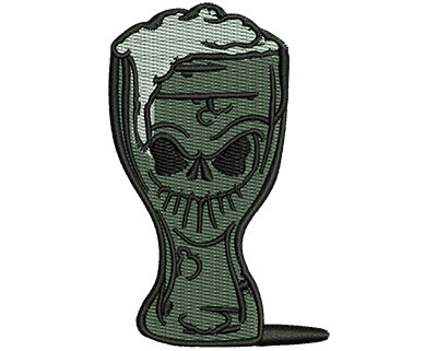 Embroidery Design: Skeleton Beer 1.93w X 3.03h