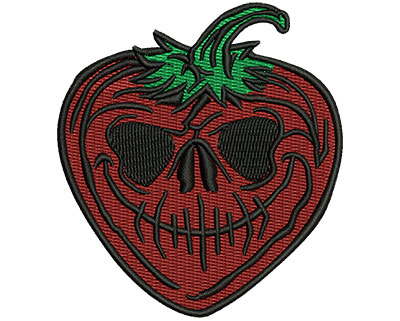 Embroidery Design: Evil Strawberry 2.74w X 3.03h