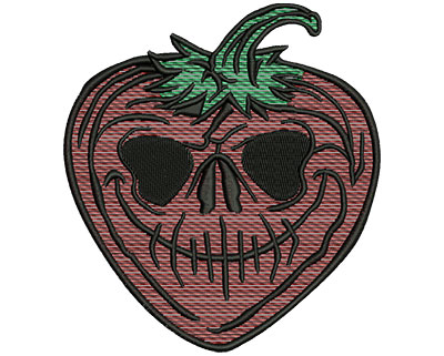 Embroidery Design: Evil Strawberry Mylar 4.60w X 5.07h