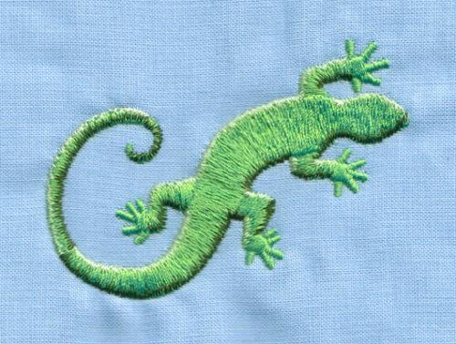 "Embroidery Design: Gecko Lizard (small)2.94"" x 2.23"""