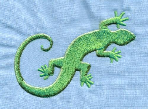 "Embroidery Design: Gecko Lizard (large)3.98"" x 3.01"""