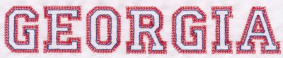 "Embroidery Design: Georgia Name1.41"" x 8.02"""