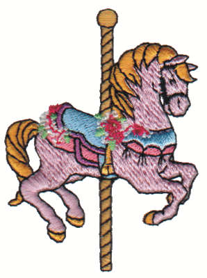 """Embroidery Design: Carousel Horse2.15"""" x 2.99"""""""