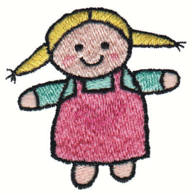 """Embroidery Design: Stuffed Dolly2.87"""" x 2.99"""""""