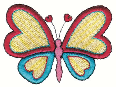 """Embroidery Design: Butterfly3.00"""" x 2.31"""""""