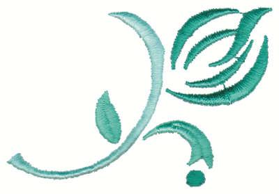 "Embroidery Design: Stylized Flower Bud3.00"" x 2.29"""