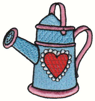 "Embroidery Design: Watering Can2.80"" x 2.99"""