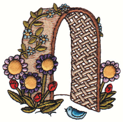 "Embroidery Design: Arbor2.98"" x 2.94"""