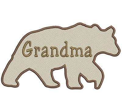 Embroidery Design: Grandma Bear Lg 8.66w X 4.86h