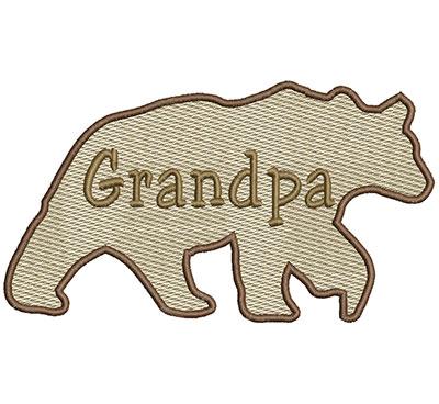 Embroidery Design: Grandpa Bear Sm 6.97w X 3.91h