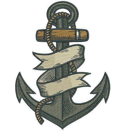 Embroidery Design: Gypsy Queen Anchor 4.53w X 6.23h