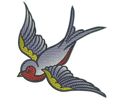 Embroidery Design: Gypsy Queen Bird 4.46w X 4.82h