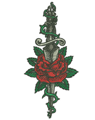 Embroidery Design: Gypsy Queen Knife 2.97w X 6.42h
