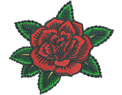 Embroidery Design: Gypsy Queen Rose 5.00w X 4.53h