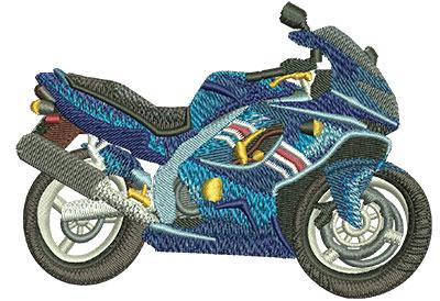 Embroidery Design: Street Bike Lg 4.03w X 2.92h