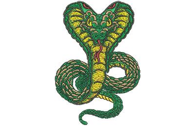 Embroidery Design: Cartoon Cobra Mascot Med 3.07w X 4.54h