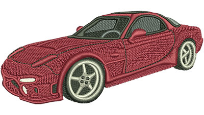 Embroidery Design: Red Sports Car Lg 4.52w X 2.12h