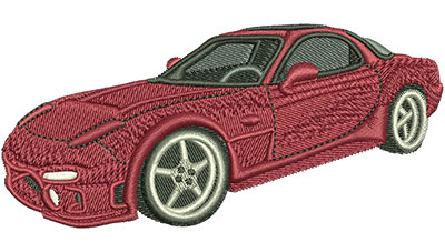 Embroidery Design: Red Sports Car Med 4.02w X 1.88h