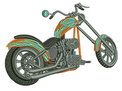 Embroidery Design: Rear View Chopper Med 3.97w X 2.99h
