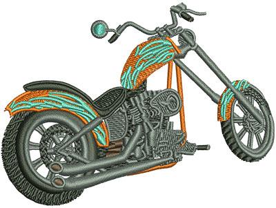 Embroidery Design: Rear View Chopper Sm 3.47w X 2.61h