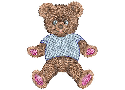 Embroidery Design: Teddy Bear Hugs Sm 3.02w X 3.48h