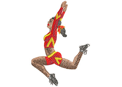 Embroidery Design: Cheerleading Jump Sm 2.21w X 2.99h