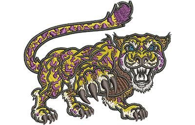 Embroidery Design: Cartoon Jaguar Mascot Sm 3.53w X 2.97h