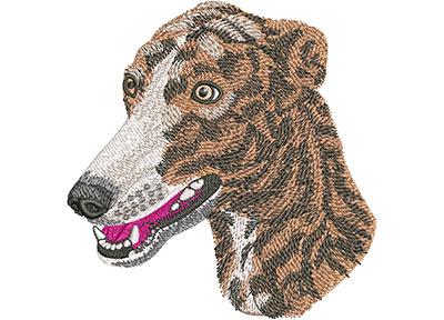 Embroidery Design: Greyhound Lg 4.39w X 4.51h