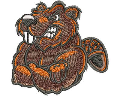 Embroidery Design: Cartoon Beaver Mascot Sm 3.06w X 2.99h