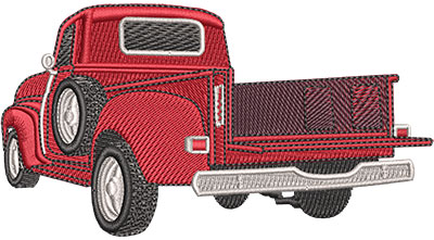 Embroidery Design: Rear View Classic Truck Lg 4.50w X 2.42h