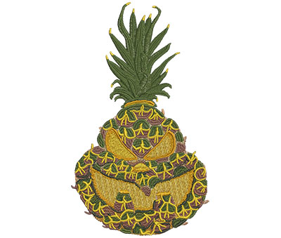 Embroidery Design: Pineapple Jack-O-Lantern Lg 4.73w X 8.01h
